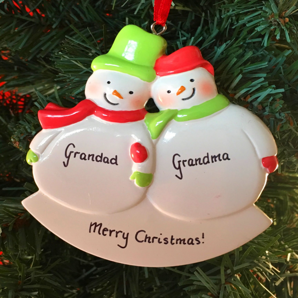 Personalised Snowman Couple